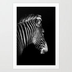 White Stripes Black Stripes Art Print