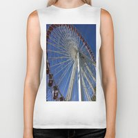ferris wheel Biker Tanks featuring Ferris Wheel by Blue Lightning Creative