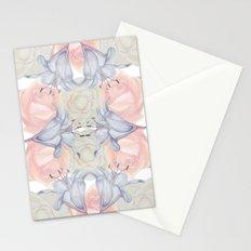 Wildflower symmetry Stationery Cards