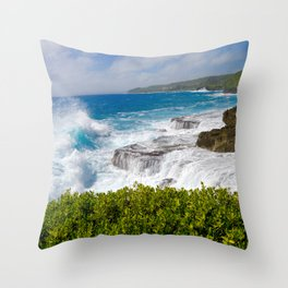 6 Feet From the Edge Throw Pillow