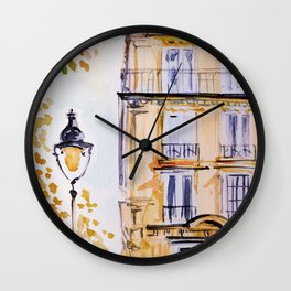 Paris autumn architecture Wall Clock