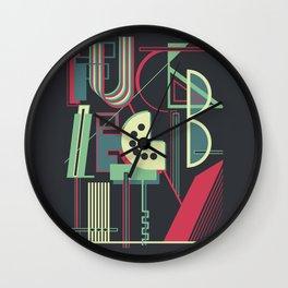 Fuck Legibility Wall Clock