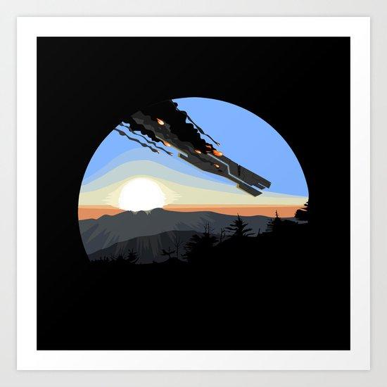 Interstellar Tragedy Art Print