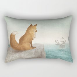 The Day the Antlered Ship Arrived Rectangular Pillow