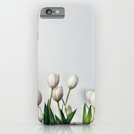 Minimal Tulips Two iPhone Case
