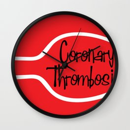 DgM CORONARY THROMBOSIS Wall Clock