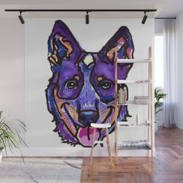 The happy Australian Cattle Dog Love of My Life Wall Mural