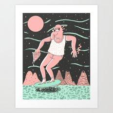 Spaceboard Art Print