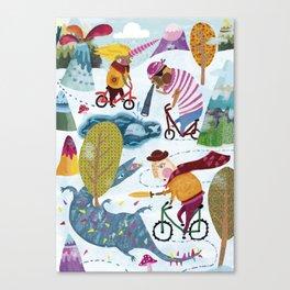 Bicycle love Canvas Print