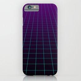 Minimalist Retro Vibes Gridlines iPhone Case