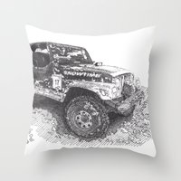 jeep Throw Pillows featuring Jeep by Rik Reimert