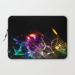 Music Notes in Color Laptop Sleeve