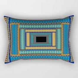 Soul Portal Geometric Print Rectangular Pillow