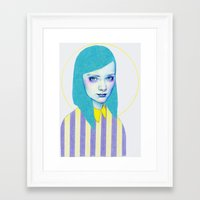 pastel Framed Art Prints featuring Pastel by Natalie Foss