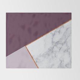 MARBLE PLUM PURPLE LAVENDER COPPER GEOMETRIC Throw Blanket