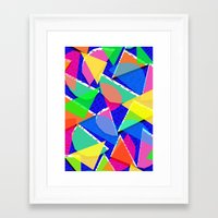 80s Framed Art Prints featuring 80s shapes by Sarah Bagshaw