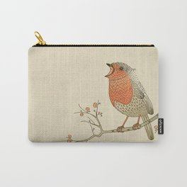 Songbird Robin vintage color palette Carry-All Pouch