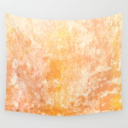 Marbling structur in warm orange tones Wall Tapestry
