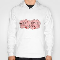 detroit Hoodies featuring Detroit MI by scoobtoobins