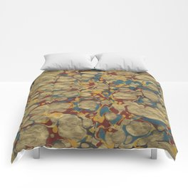Marbled Gold Comforters