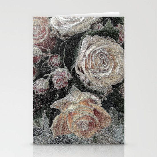 First Frost- Frozen Flowers  Stationery Cards