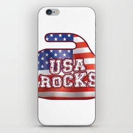 USA Rocks American Curler Winter Sport iPhone Skin
