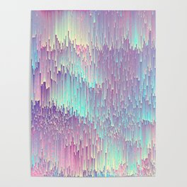 Iridescent Glitches Poster
