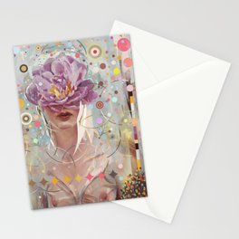 A flower in my garden Stationery Cards