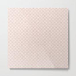 Modern pastel brown white elegant lace pattern Metal Print
