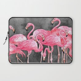 Flamingo Collage in Watercolor and Ink Laptop Sleeve