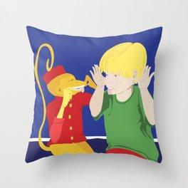 Monkey See, Monkey Do Throw Pillow
