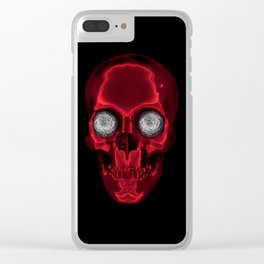 hypnotic skull Clear iPhone Case