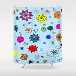 color me flaky Shower Curtain