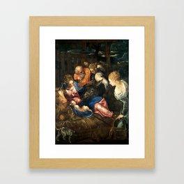 "Tintoretto (Jacopo Robusti) ""Nativity"" Framed Art Print"