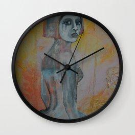 Portrait of lady Natasha Circus Performer Wall Clock