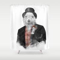 phil jones Shower Curtains featuring Mr. Phil by Robert Farkas