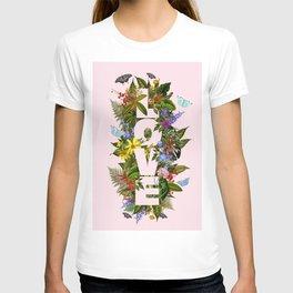 LOVE Print, Love poster Decor, Wall Art, flowers Print, love Art, collage print, Love and Flowers T-shirt