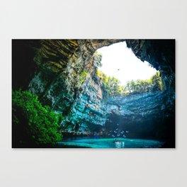 Sea Cave in Greece Canvas Print