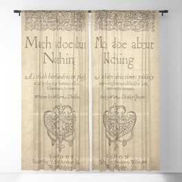Shakespeare. Much adoe about nothing, 1600 Sheer Curtain
