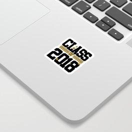 class of 2018 graduation grade senior 2018 new student love art gold hot Sticker