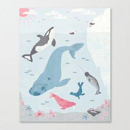Arctic Neighborhood Canvas Print