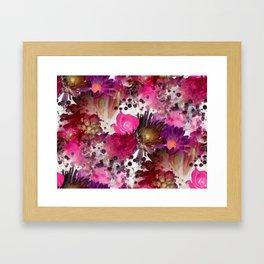 Flower Garden in Pinks Framed Art Print