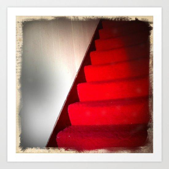 Red Carpet Stairs Art Print