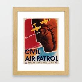 Vintage poster - Civil Air Patrol Framed Art Print