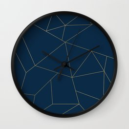 Golden Crystal Web Pattern Wall Clock