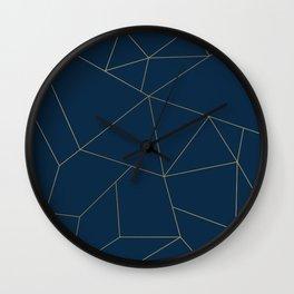 Golden Crystal Web Pattern Wall Clock