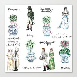 Pride and Prejudice and Topiary  Canvas Print