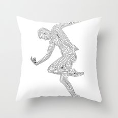 Dancing with myself - unfinished dream Throw Pillow