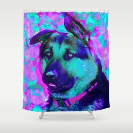 Artistic Dog Expression Shower Curtain