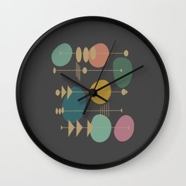 Mid Century Modern Atomic in Grey Wall Clock